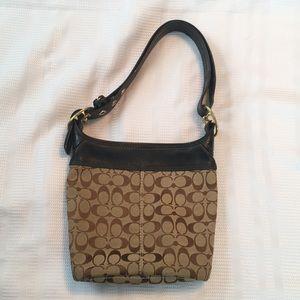 Coach Signature Fabric Shoulder Bag